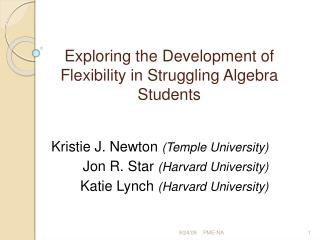 Exploring the Development of Flexibility in Struggling Algebra Students
