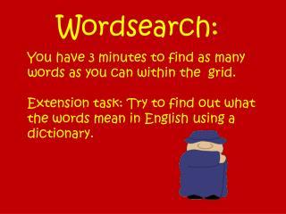 Wordsearch:
