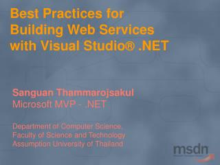 Best Practices for Building Web Services with Visual Studio