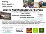 MINING AND INDIGENOUS PEOPLES