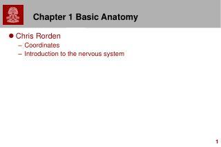 Chapter 1 Basic Anatomy