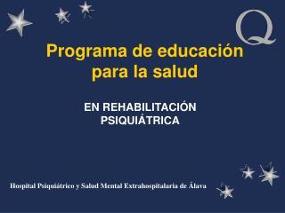 Programa de educaci n para la salud