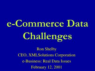 E-Commerce Data Challenges