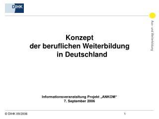 Konzept  der beruflichen Weiterbildung in Deutschland