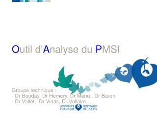 Outil d Analyse du PMSI