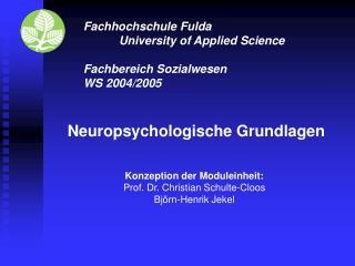 Fachhochschule Fulda  University of Applied Science  Fachbereich Sozialwesen WS 2004