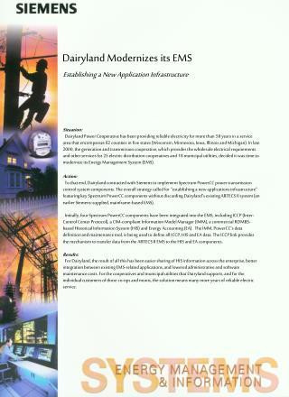 Dairyland Modernizes its EMS