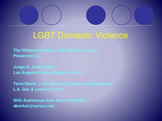 LGBT Domestic Violence