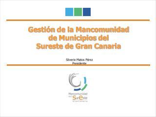 Gesti n de la Mancomunidad  de Municipios del  Sureste de Gran Canaria