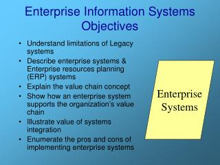 Enterprise Information Systems Objectives
