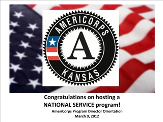 Congratulations on hosting a  NATIONAL SERVICE program