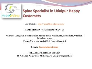 Spine Specialist in Udaipur Happy Customers