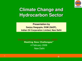 Climate Change and Hydrocarbon Sector