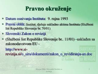 Marjan Odar, Slovenski Institut za reviziju