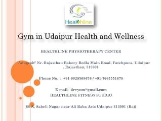 Gym in Udaipur Health and Wellness