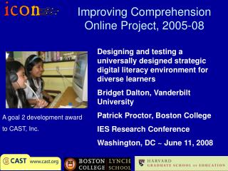 Improving Comprehension Online Project, 2005-08