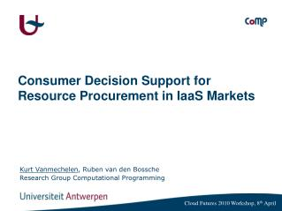 Consumer Decision Support for Resource Procurement in IaaS Markets