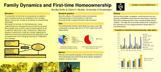 Family Dynamics and First-time Homeownership