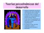 Teor as psicodin micas del desarrollo