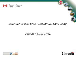 EMERGENCY RESPONSE ASSISTANCE PLANS ERAP
