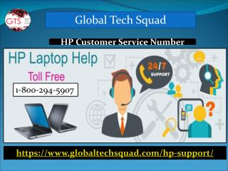 Hp Laptop Customer Care Number 1-800-294-5907