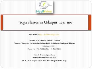 Yoga classes in Udaipur near me