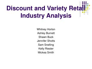 Discount and Variety Retail Industry Analysis