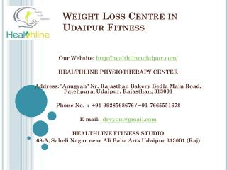 Weight Loss Centre in Udaipur Fitness