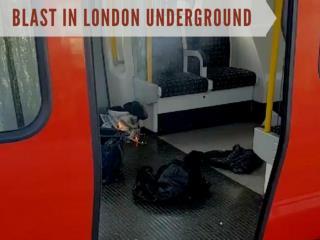 London Underground train blast