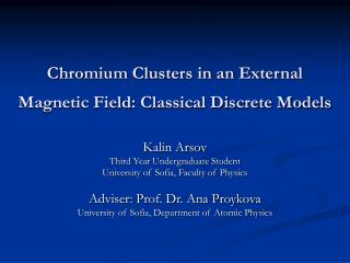 Chromium Clusters in an External Magnetic Field: Classical Discrete Models