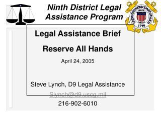 Ninth District Legal Assistance Program