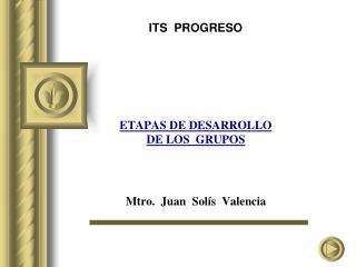 ITS  PROGRESO        ETAPAS DE DESARROLLO DE LOS  GRUPOS     Mtro.  Juan  Sol s  Valencia