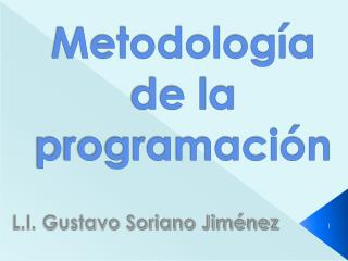 Metodolog a de la programaci n