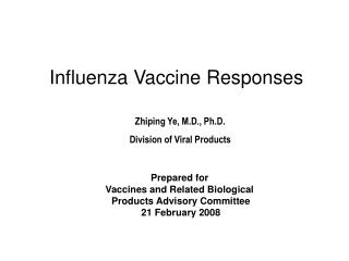 Influenza Vaccine Responses