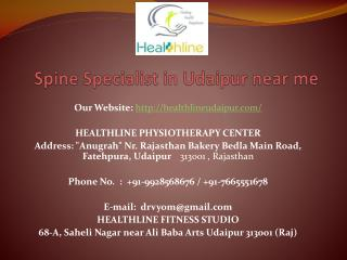 Spine Specialist in Udaipur near me