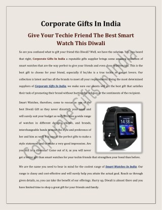 Give Your Techie Friend The Best Smart Watch This Diwali