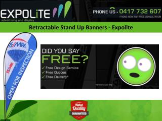 Retractable Stand Up Banners –Expolite