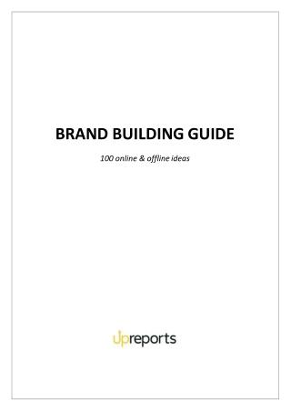BRAND BUILDING GUIDE 100 ONLINE AND OFFLINE VIDEOS