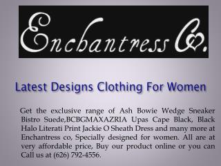 Latest Designs Clothing For Women