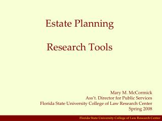 Estate Planning  Research Tools