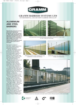 ALUMINIUM AND STEEL BARRIERS - GrammBarriers