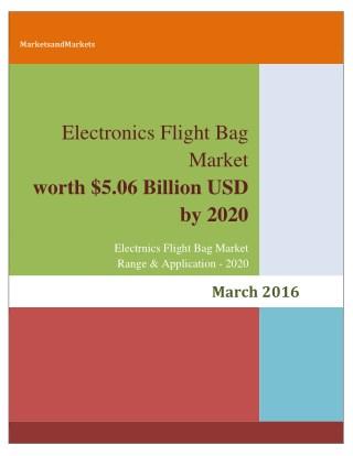 Electronic Flight Bag (EFB) Market worth 5.06 Billion USD by 2020