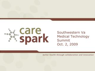 Southwestern Va Medical Technology Summit Oct. 2, 2009