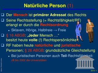 Nat rliche Person 1