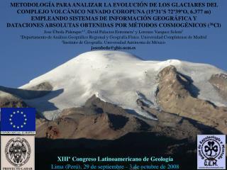 XIII  Congreso Latinoamericano de Geolog a