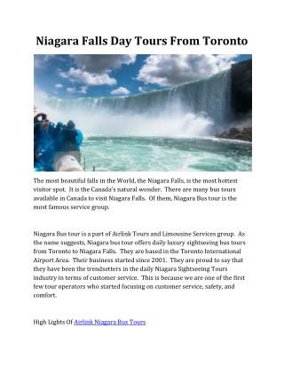 Niagara Falls Tours Toronto