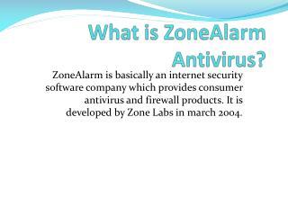 Installation Of Zonealarm Antivirus