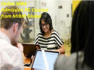 Online MBA Admission PG Courses from NOIDA