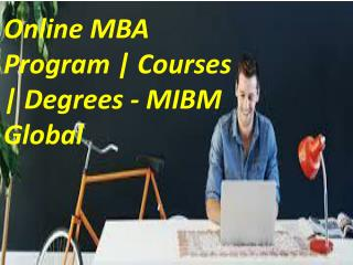 Online MBA Program | Courses | Degrees developing countries like India