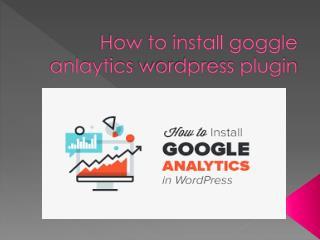 How to install google analytics word press plugin